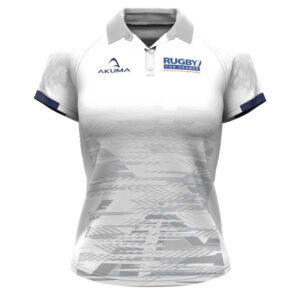 Ladies Semi-Fit Rugby Shirt – Trad White