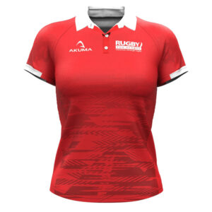 Ladies Semi-Fit Rugby Shirt – Trad Red
