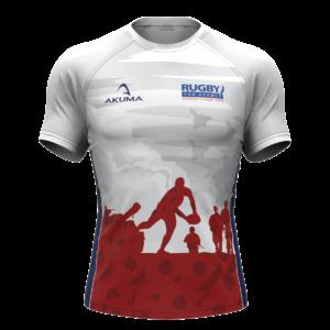 Men's White Poppy Semi-Fit Rugby Shirt – Round